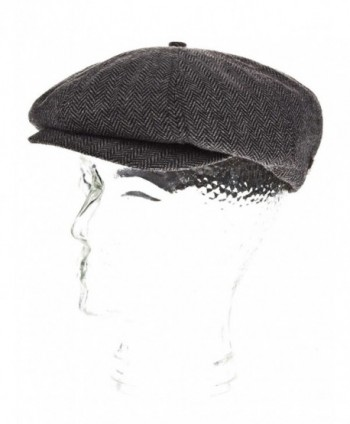 Brixton Men's Brood newsboy Snap Hat - Grey/Black - CE114TVVH8H