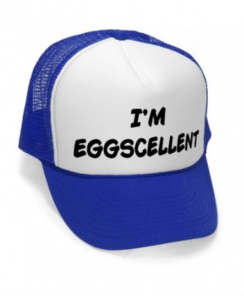 I'm Eggscellent - Size Regular (One Size Fits All) Trucker Hat - Royal Blue - CK11JNMEYMN