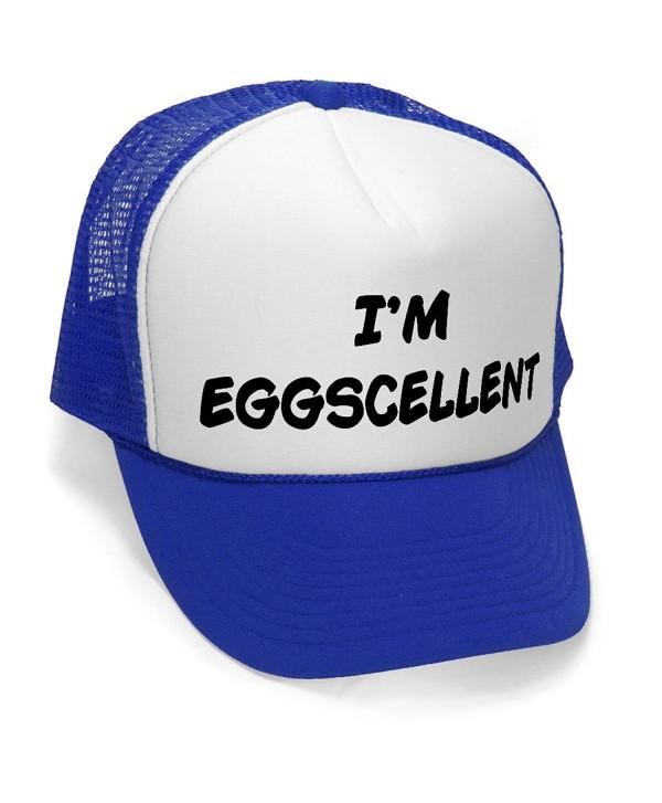I'm Eggscellent - Size Regular (One Size Fits All) Trucker Hat - Royal Blue - CK11JNMEYMN