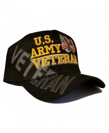Army Baseball Cap US Veteran V American Flag USA Hat United States - Army Veteran Cap Black Side Shadow - CP187WT0OTK