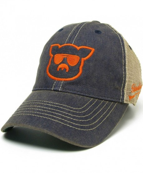 Islanders Pig Face College Trucker Hat - War Eagle Auburn Blue/Orange - CS12O0N6NB6
