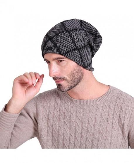 3483dd458a1 Vbiger Beanie Hat Knit Hat Winter Skull Wool Hat Windproof for Men   Women  (Dark