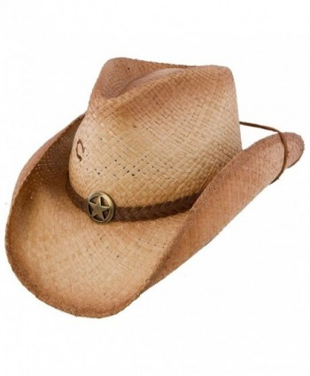 Charlie 1 Horse Men's Lone Ranger Straw Cowboy Hat Tea Large - CW11RWCA9YH