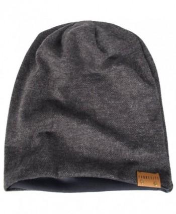 Oversize Slouch Beanie Skullcap Gray 010b