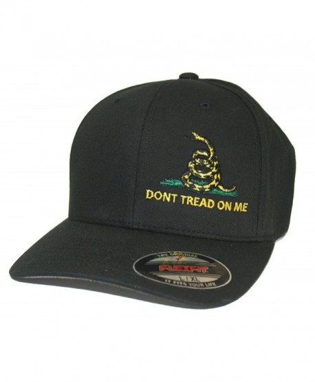 JUST RIDE Don't Tread On Me Gadsden Hat Cap Flexfit - Black - C5183KAZI8A