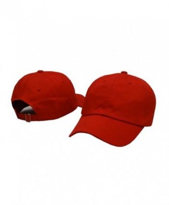 Plan Blank Cotton Baseball Women - Red - CM183W2XD0Z