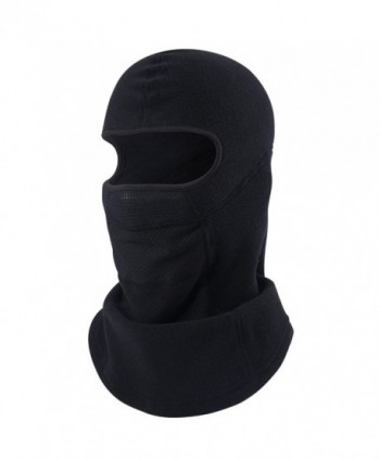 MIFULGOO Balaclava Fleece Hood With Neck Cover Half Face Ski Mask With Air Hole - Balaclava-black2 With Air-net - C8187NTUKKE