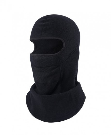 MIFULGOO Balaclava Fleece Hood With Neck Cover Half Face Ski Mask With Air Hole - Balaclava-black2 With Air-net - C8187NTUKKE