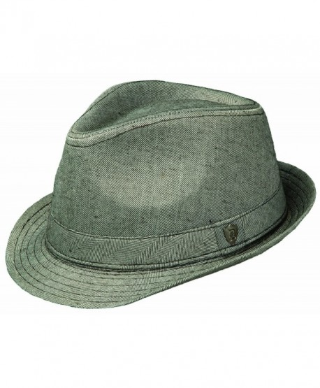 Dorfman Pacific Fashion HERRINGBONE FEDORA - Grey - CO11C8RNIIL