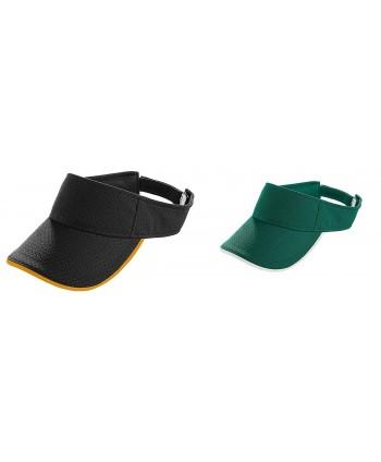 Augusta Adult Athletic Mesh Two-Color Visors Set - Set of Black/Gold & Dark Green/White - C112674QP2L