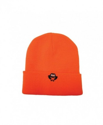 Safety Depot High Visibility Knitted Cap (Beanie) with Owl Logo - Orange - C212O6XR54Q
