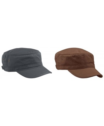 Econscious Men's Organic Cotton Twill Corps Hats Set - Set of Charcoal & Earth - CI126OA3E5X