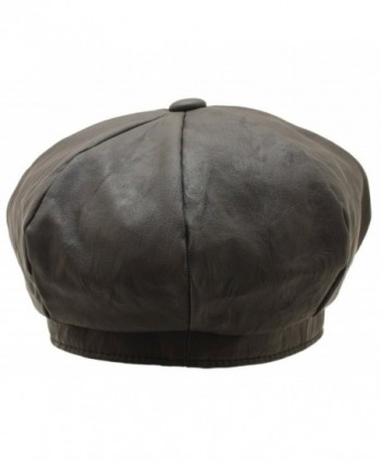 Women Gatsby Newsboy Bakerboy Leather in Men's Newsboy Caps