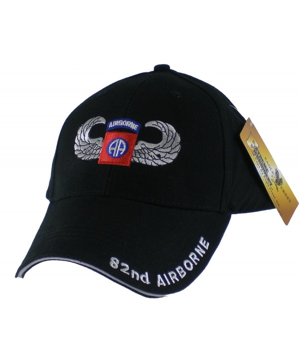 US Army 82nd Airborne with Wings Embroidered Ball Cap - CB1190O6QDJ