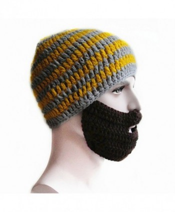 Yosang Windproof Knitted Beanie Yellow in Men's Balaclavas