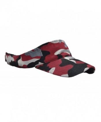 CAMOsport Mens Visor Adjustable Red Black White Gray