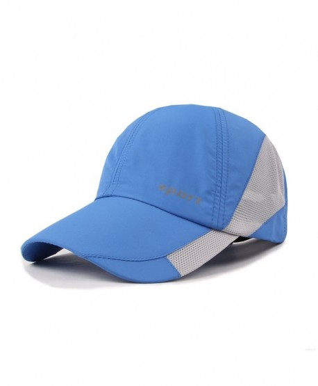 GADIEMENSS Light Weight Breathable Run Baseball Hat Outdoor Quick Dry Sport Cap - Sport Series- Blue - CD184Q63DCT