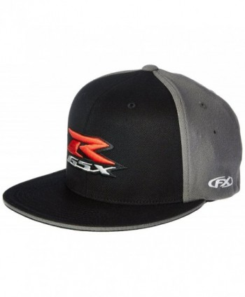 Factory Effex 15-88446 Suzuki 'GSXR' Flex-Fit Hat (Black- Small/Medium) - C01182JDWJJ