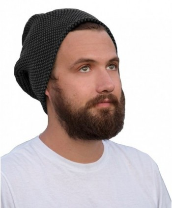 H 6727 0621 Mens Checker Slouchy Beanie