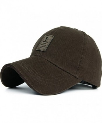Cotton Hats Twill Low Solid Profile Plain Adjustable Baseball Caps - A-brown - CF12MYZ4FSG