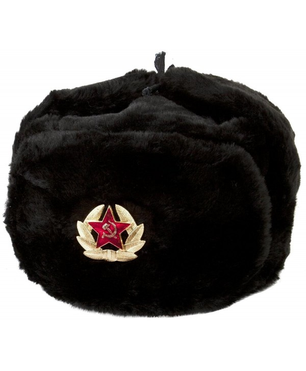 Hat Russian Soviet Army KGB * Fur Military Cossack Ushanka * Size XL Black - CX117JZWLML