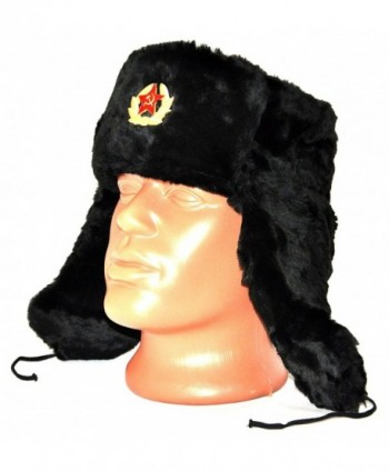 Russian Soviet Military Cossack Ushanka in Men's Skullies & Beanies