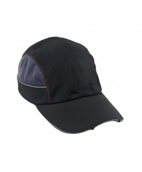 Skullerz 8960 Bump Cap with LED Brim Lighting- Long Brim- Black - Black - CT11JA0E3PF