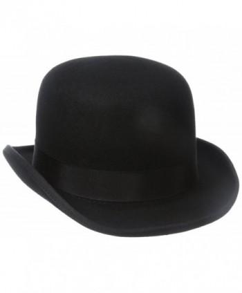 Stacy Adams Men's Wool Derby Hat - Black - CS112J2PGIP