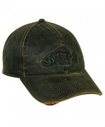Fish Skeleton Distressed Weathered Cotton Fishing Cap Hat 226-Dark Brown-One Size Fits Most - CO17Z6L28KD