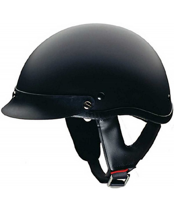 HCI Matte Black Motorcycle Half Helmet with Visor - ABS Shell 100-116 - CC11HOBWK7B