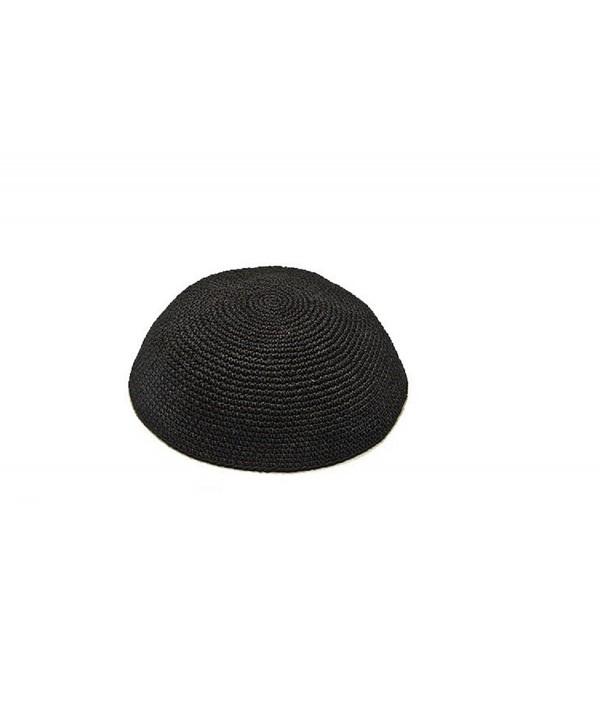 """Art Judaica Knitted Yarmulka Kippah Serugah Black - Best Quality Size 20cm 8"""" - CQ12KI11V4B"""