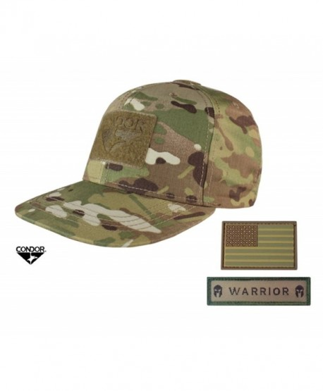 Condor MultiCam Flat Bill Snapback Adjustable Hat + FREE Warrior & Flag Patch - C112NUENOKU