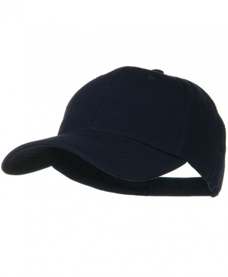 Superior Cotton Twill Low Profile Strap Cap - Navy Blue - CZ11918E1QD