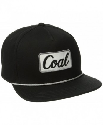 Coal Men's the Palmer Hat Adjustable Snapback Cap - Black - C811PKOS33T