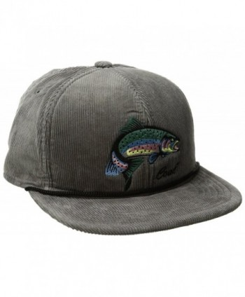 Coal Men's the Wilderness Hat Adjustable Corduroy Snapback Cap - Grey/Fish - CP120QUNCDH