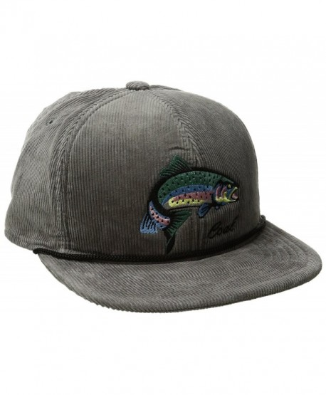 9aad78ae6 Men's the Wilderness Hat Adjustable Corduroy Snapback Cap - Grey/Fish -  CP120QUNCDH