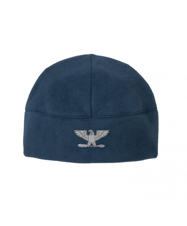 Officer Rank O-6 Colonel / Captain Veteran Embroidered Beanie Watch Cap - Blue - C1186MMWKOD