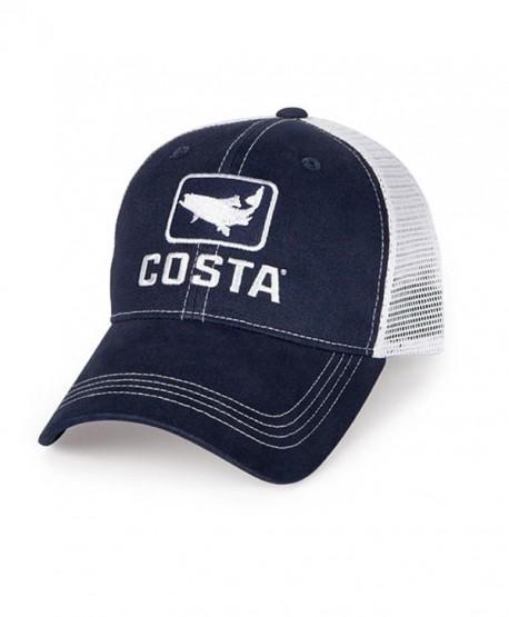 Costa XL Trout Trucker Hat - Navy/White - C6119DTYZIT