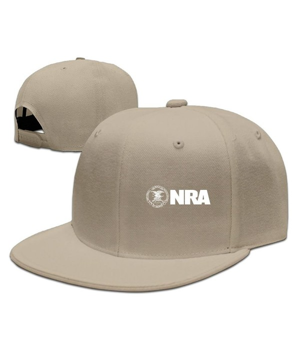 Adjustable Plain Hat Flat Brim Hat Unisex/Men/Women - NRA National Rifle Association - Natural - CM187NEW6O2