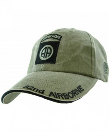 US Army 82nd Airborne OD Green Ball Cap - CZ1190O6QLV