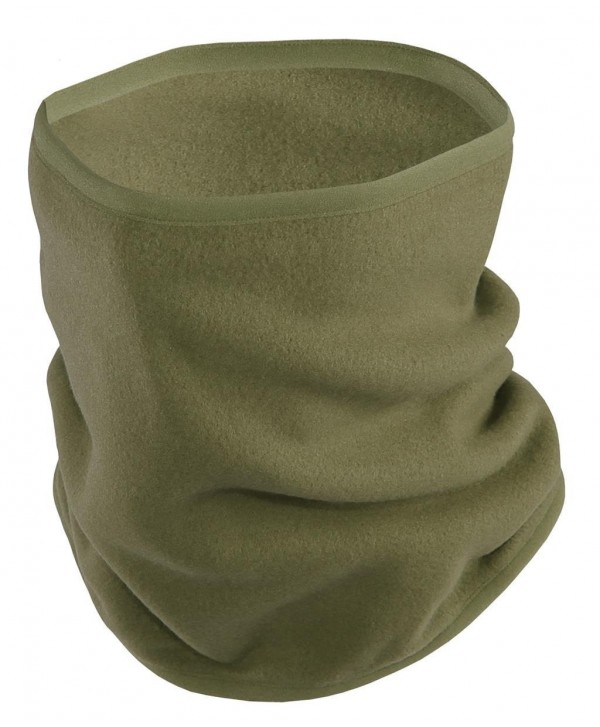 Sub Sports Thermal Fleece Snood Tube Scarf Face Mask Hood Neck Warmer Ski Snow - Olive Green - CZ1279TWXLF