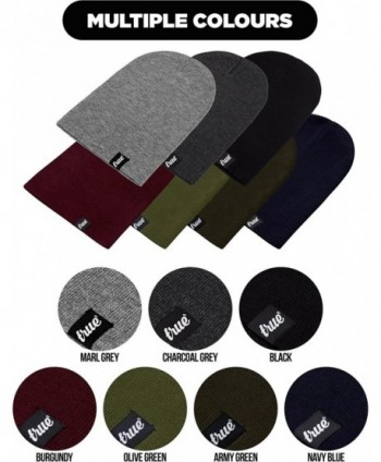 TRUE VISION Mens Burgundy Beanie
