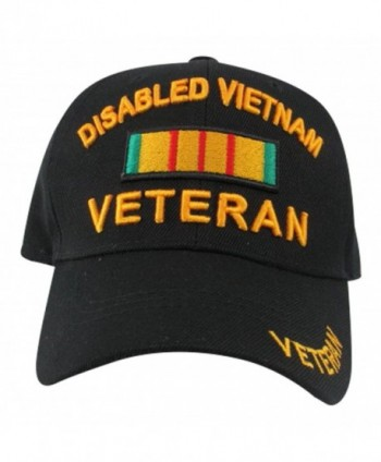 Disabled Vietnam Veteran with Campaign Ribbon Baseball Hat- One Size- Black - CT11L6YFZPL