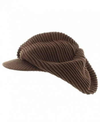 Milani Slouchy Rasta Inspired Woven Knit with Bill - Brown - CQ11SQJT31V