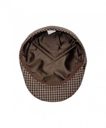 Petersham Traditional League Snapbill Houndstooth in Men's Newsboy Caps