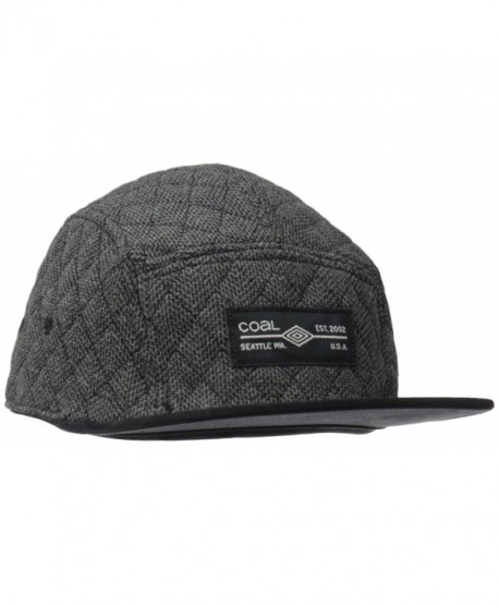 Coal Men's the Clive Quilted 5 Panel Hat Adjustable Cap - Charcoal - C011VJ0MEJ7