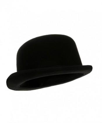 Black Blended Wool Derby Hat - CX116LKKB6X