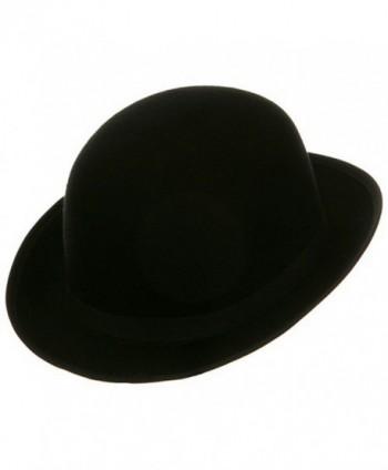 Black Blended Wool Derby Hat