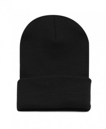 The Hat Depot 1300 Winter Unisex Plain Ski Beanie Knit Skull Hat - Black - CL1272PCDP7