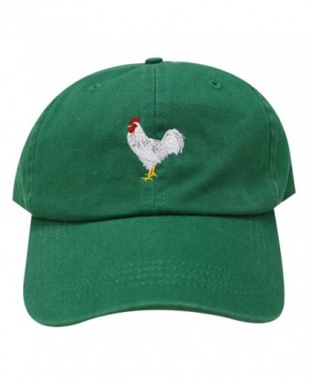 City Hunter C104 Chicken Cotton Baseball Dad Caps 16 Colors - Kelly Green - CD12M3UYY0X
